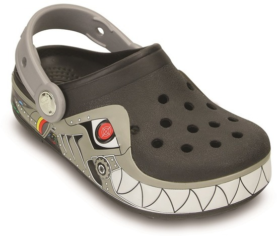 CROCS SHOES FLIP-FLOPS LIGHTS ROBO SHARK CLOG 15362 BLACK