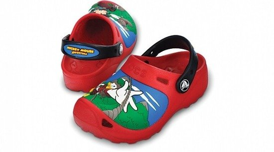 CROCS SHOES FLIP-FLOPS MICKEY MOUSE CLOG 11154 Red