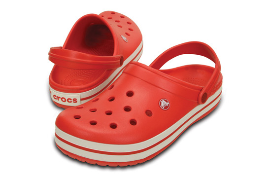 WOMEN'S SHOES CROCS CROCBAND 11016 FLAME/WHITE