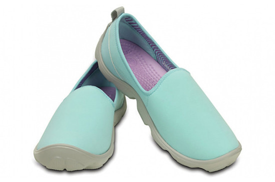 WOMEN'S SHOES CROCS DUET BUSY DAY SKIMMER 14698 ICE BLUE