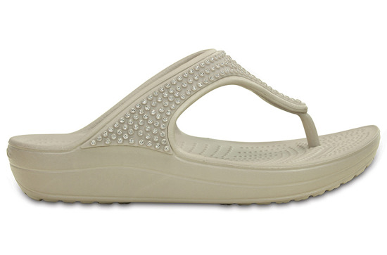 WOMEN'S SHOES CROCS SLOANE FLIP 203128 PLATINUM