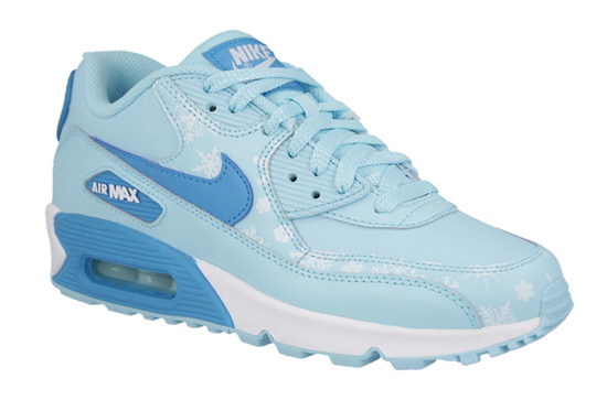 WOMEN'S SHOES NIKE AIR MAX 90 PREMIUM LEATHER GS 724871 400