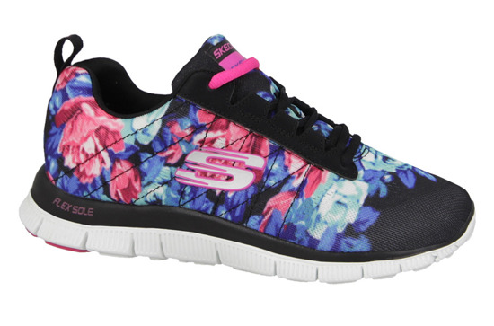 WOMEN'S SHOES SKECHERS WILD FLOWERS 12448 BKMT