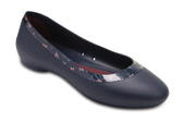 CROCS LINA SHINY FLAT 204855 NAVY