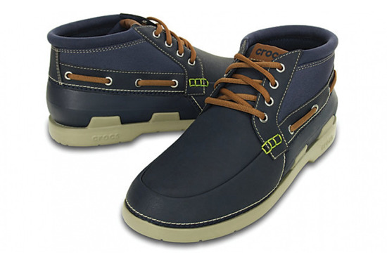 MEN'S SHOES CROCS BEACH LINE BOAT CHUKKA MEN 15924 NAVY