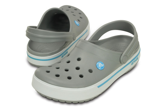 MEN'S SHOES FLIP-FLOPS CROCS CROCBAND II.5 CLOG 12836 LIGHT GREY