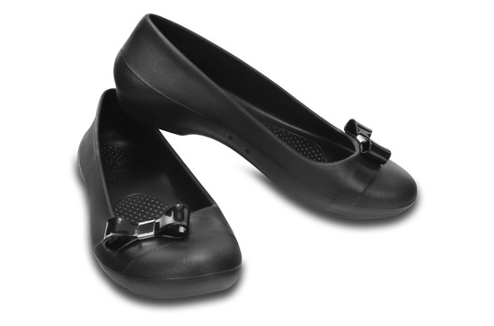WOMEN'S SHOES BALLERINA CROCS GIANNA SIMPLE 200871 BLACK