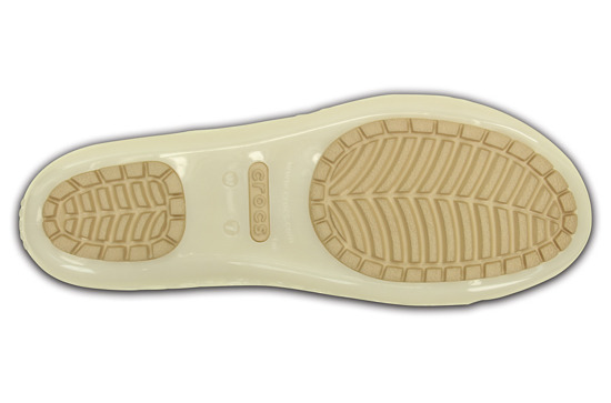 WOMEN'S SHOES CROCS ISABELLA JELLY FLAT 203285 OYSTER