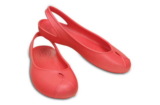 WOMEN'S SHOES CROCS OLIVIA II FLAT 202826 CORAL
