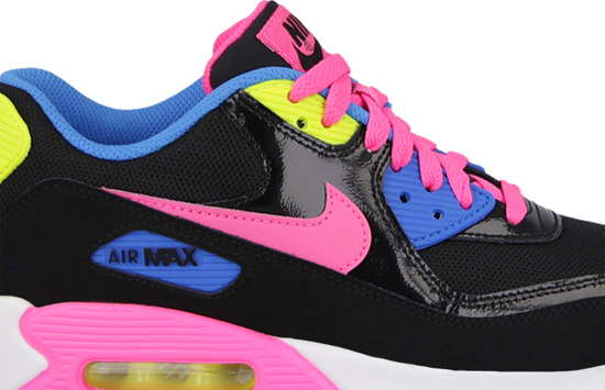 WOMEN'S SHOES NIKE AIR MAX 90 MESH (GS) 724855 004