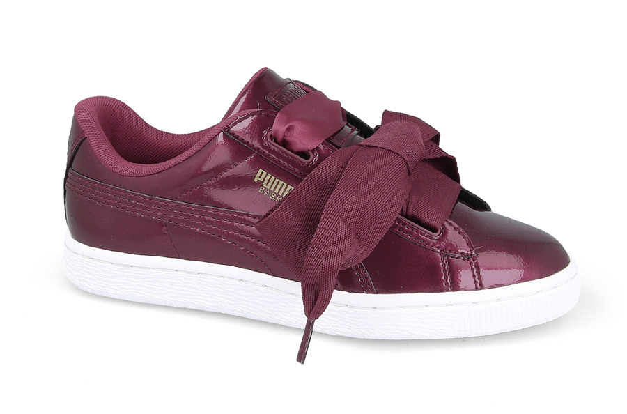 puma basket bordowe